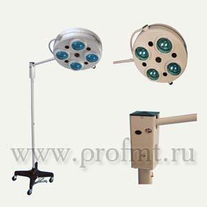 Операционный на колесах ALFA-734 Светильник 4-рефлекторный